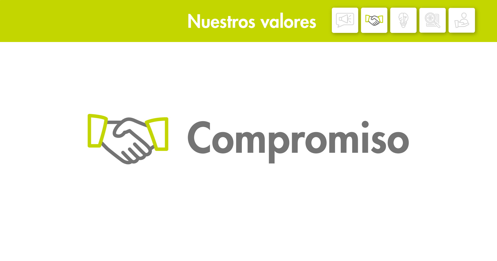 Nuestros valores: Compromiso