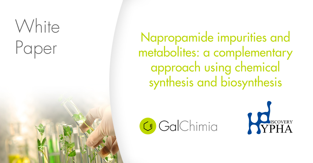 Napropamide impurities and metabolites: a complementary approach using chemical synthesis and biosynthesis