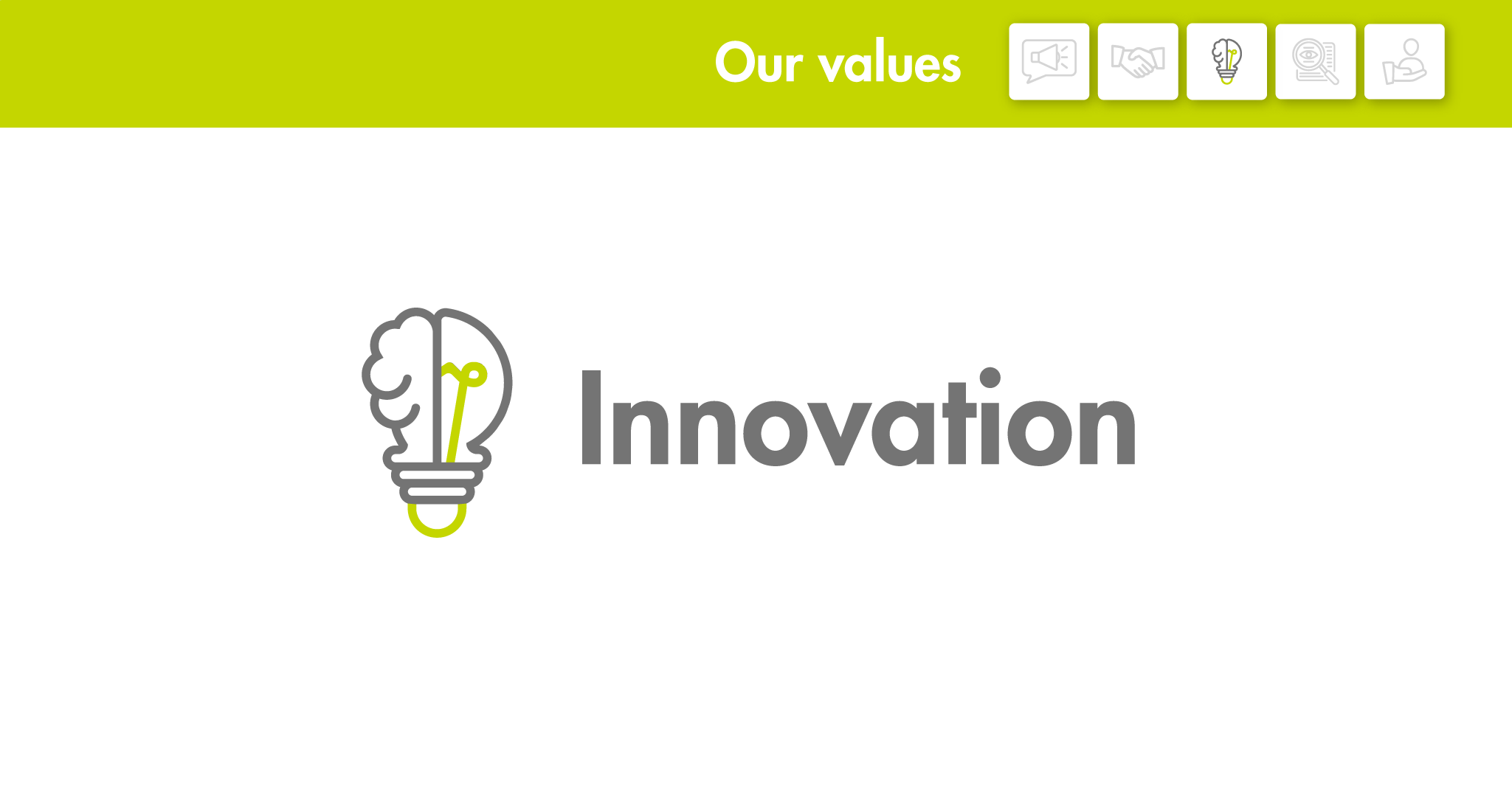 Our values: Innovation