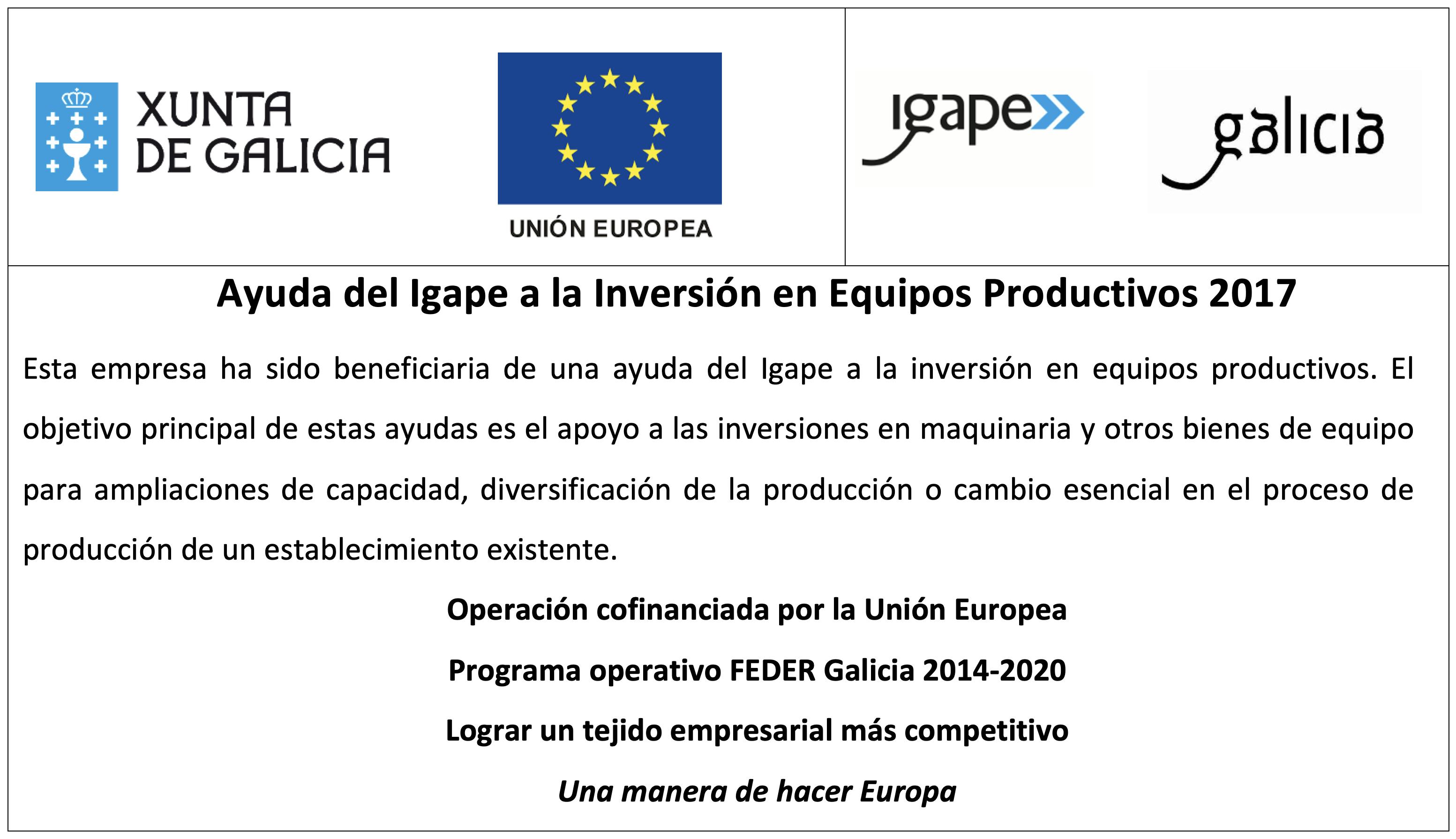 Foto Ayuda del Igape a la inversión en equipos productivos 2017