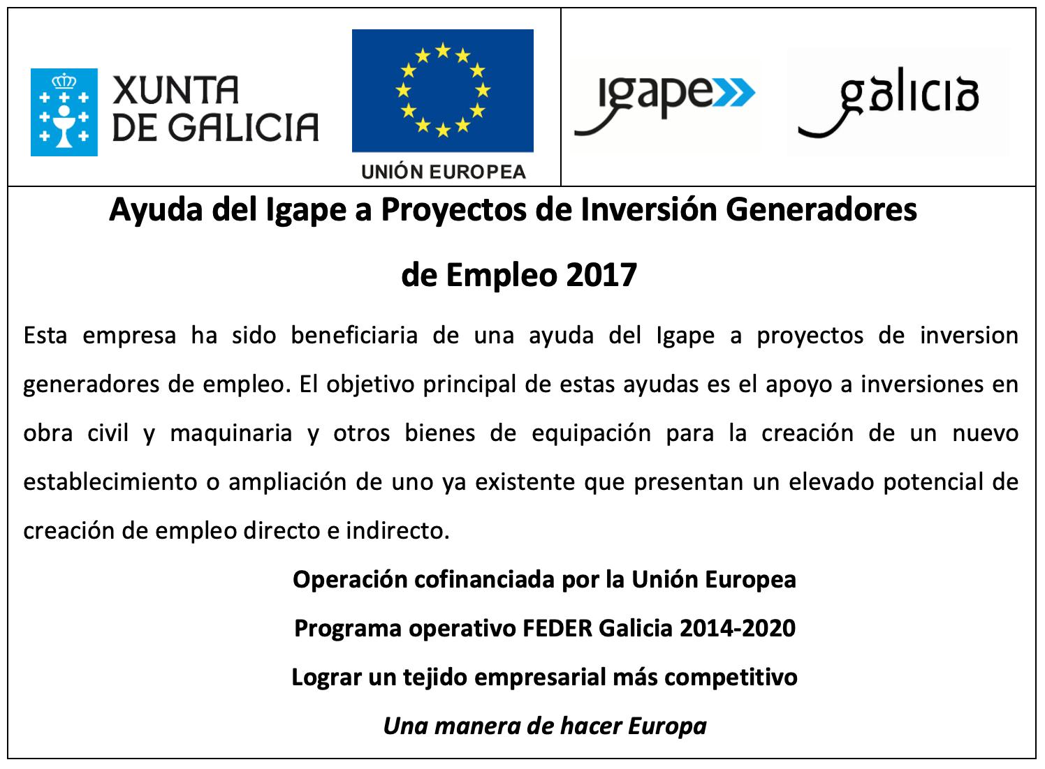 Foto Ayuda del Igape a Proyectos de Investigación Generadores de Empleo 2017