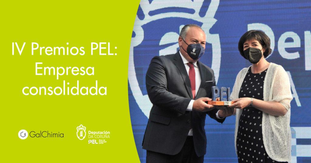 GalChimia ha recibido el Premio Provincial a la Mejor Iniciativa Empresarial Consolidada otorgado por la Diputación de A Coruña.